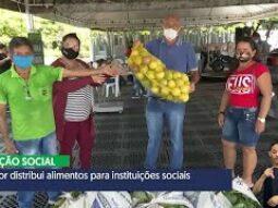 Sepror distribui 12,5 toneladas de alimentos para instituições sociais